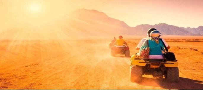 Morning desert safari trip with quad bike